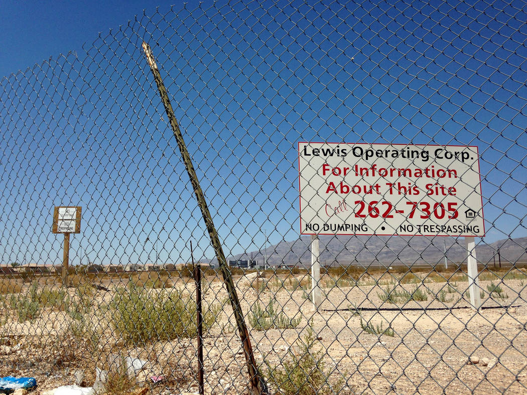 Richmond American Homes recently bought land, as seen on Tuesday, Aug. 15, 2017, near the southwest corner of Lamb Boulevard and Centennial Parkway in North Las Vegas. Eli Segall Las Vegas Review- ...