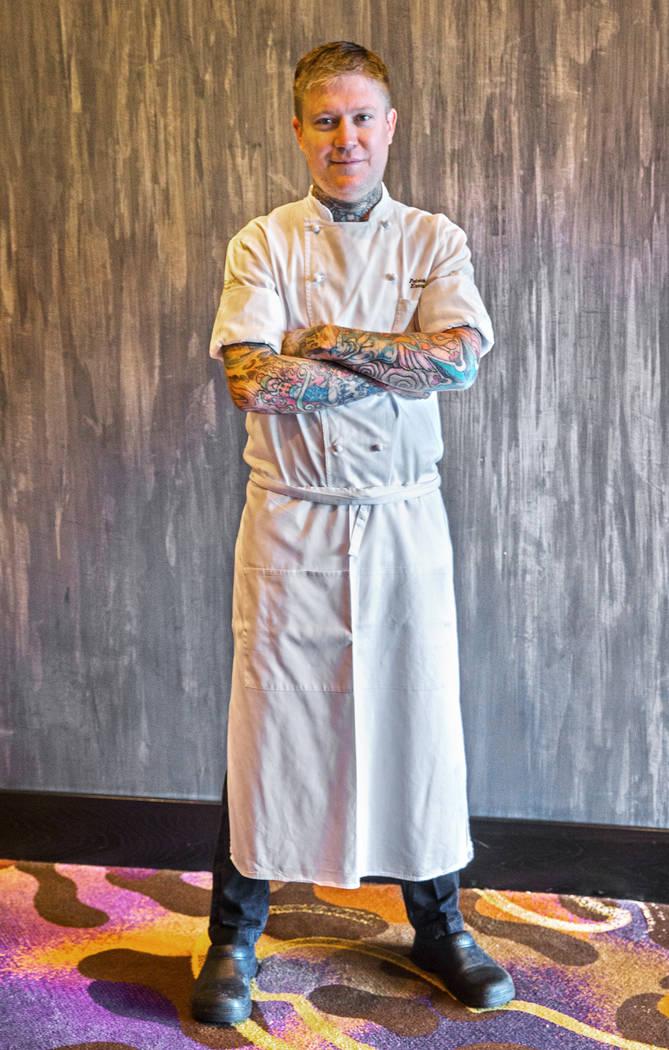 Executive chef Patrick Munster at MB Steak on Monday, Aug 14, 2017, at the Hard Rock hotel-casino, in Las Vegas. Benjamin Hager Las Vegas Review-Journal @benjaminhphoto