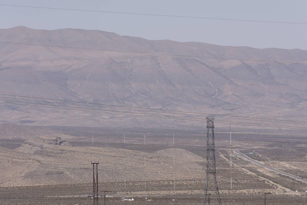 Apex Industrial Park near U.S. Highway 93 and Interstate 15 in North Las Vegas. (Jason Ogulnik/Las Vegas Review-Journal)