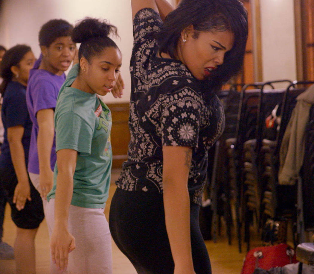 """Tayla Solomon, Blessin Giraldo and the """"Lethal Ladies of BLSYW"""" in the film STEP. Photo courtesy of Fox Searchlight Pictures. © 2017 Twentieth Century Fox Film Corporation A ..."""