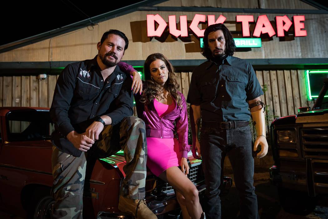 """Channing Tatum stars as Jimmy Logan, Riley Keough as Mellie Logan and Adam Driver as Clyde Logan in Steven Soderbergh's """"Logan Lucky."""" Michael Tacket  Fingerprint Releasing Bleecker Street"""