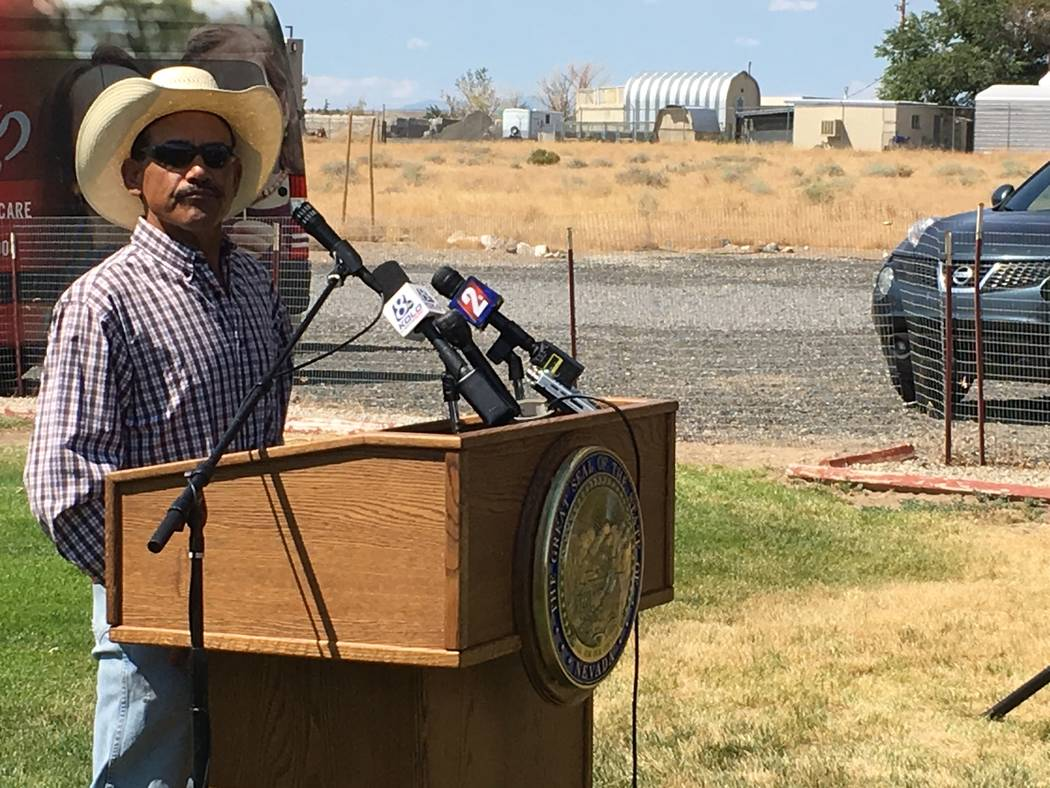 Robert Garcia, 47, of Silver Springs, said on Tuesday, Aug. 15, 2017, he received surgery while on Medicaid that allowed him to return to his job working cattle. He wants to participate in the exc ...