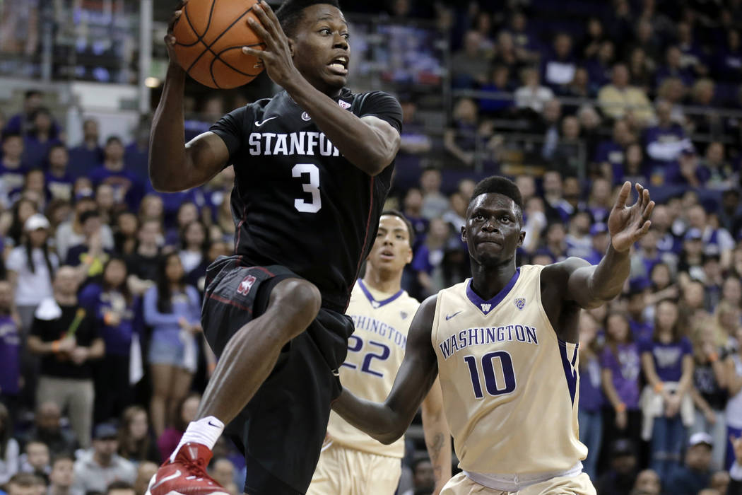 Stanford Guard Malcolm Allen 3 Leaps To A Paround Washington Forward Malik Dime