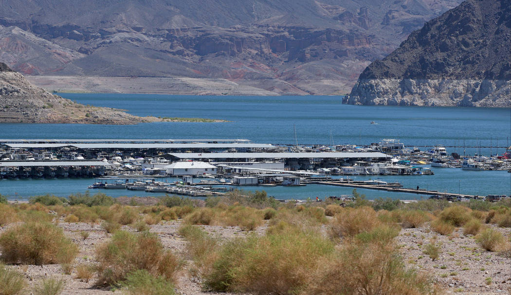 View of the Lake Mead Marina from the Lake Mead National Recreational Area scenic drive, Tuesday, Aug. 15, 2017. Gabriella Benavidez Las Vegas Review-Journal @latina_ish