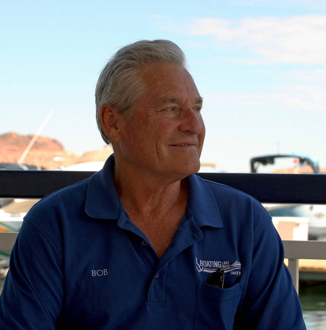 Bob Gripentog, co-owner of the Las Vegas Boat Harbor, at the Lake Mead Marina, Tuesday, Aug. 15, 2017. Gabriella Benavidez Las Vegas Review-Journal @latina_ish