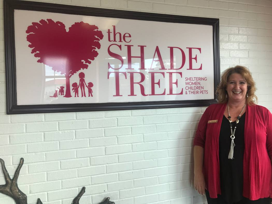 Stacey Lockhart, executive director of The Shade Tree, in the lobby on July 25, 2017 at The Shade Tree, 1 W. Owens Ave. (Kailyn Brown/ View) @KailynHype