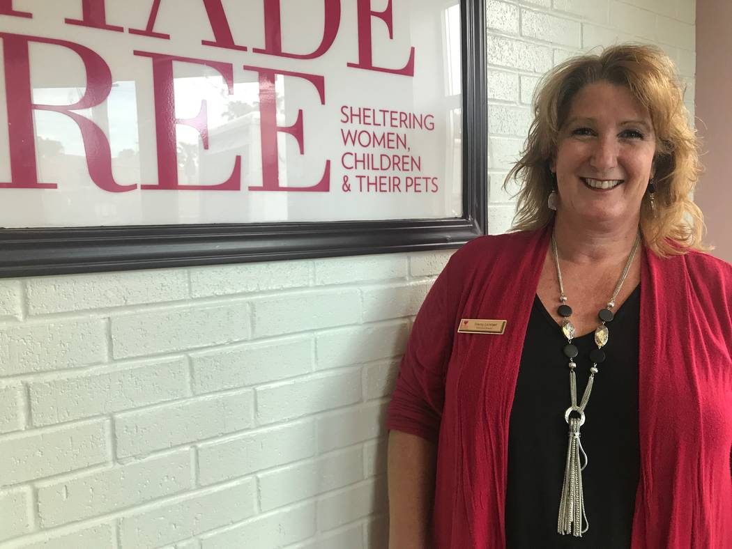 Stacey Lockhart, executive director of The Shade Tree, in the lobby on July 25, 2017 at The Shade Tree, 1 W. Owens Ave. (Kailyn Brown/ View) @KailynHype  T