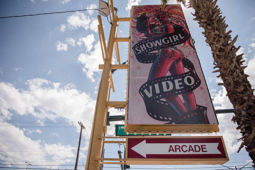 Showgirl Video signage on Monday, July 31, 2017, in Las Vegas. Morgan Lieberman Las Vegas Review-Journal
