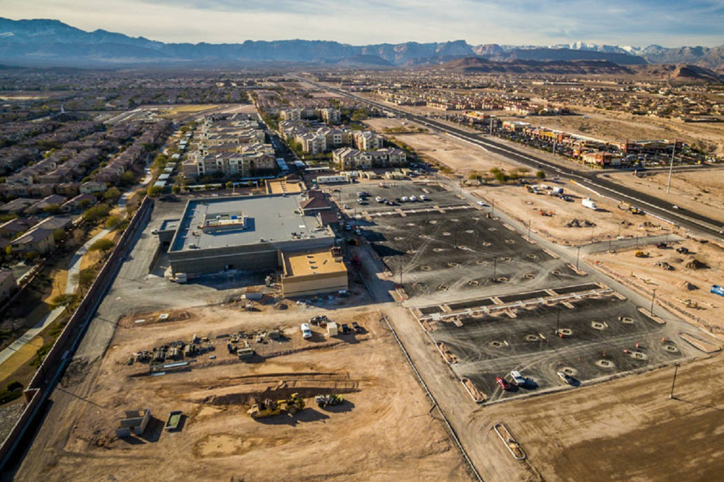 Remington Nevada continues to make progress on four new shopping centers around the valley, including the Albertsons-anchored site near the Mountain's Edge community. (Remington Nevada)