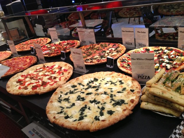 A selection at Pop Up Pizza in The Plaza Hotel downtown.