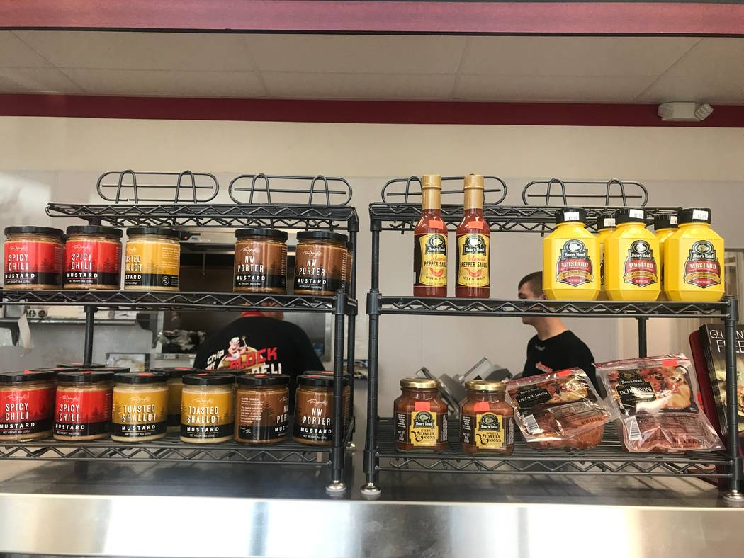 The front counter at Chip off the Block Deli, 6440 N. Durango Drive. (Kailyn Brown/ View) @KailynHype