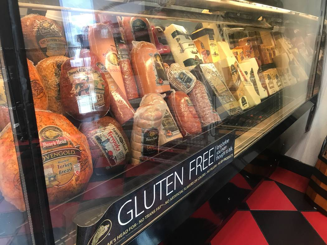 Meat and cheese are displayed on July 11, 2017 at Chip off the Block Deli, 6440 N. Durango Drive. (Kailyn Brown/ View) @KailynHype