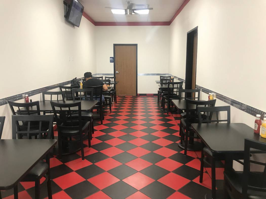 The seating area at Chip off the Block Deli, 6440 N. Durango Drive. (Kailyn Brown/ View) @KailynHype