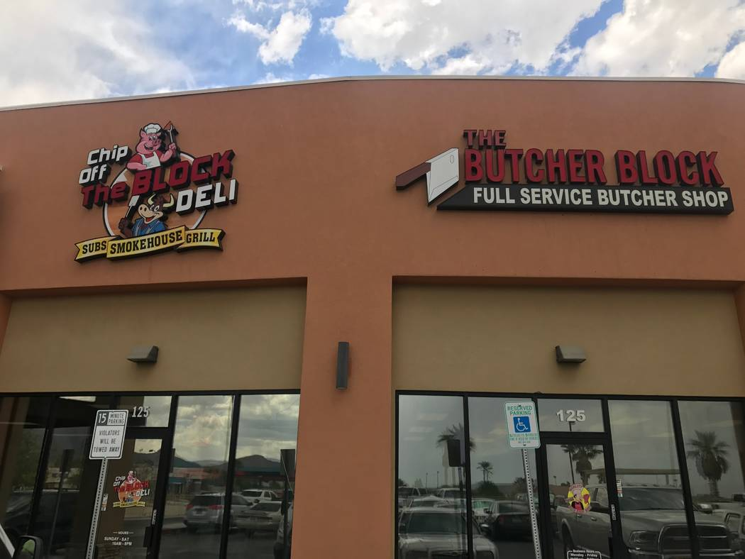The front of the Chip off the Block Deli, 6440 N. Durango Drive. (Kailyn Brown/ View) @KailynHype