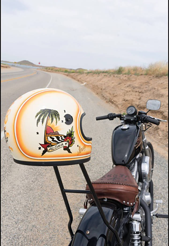 Sailor Jerry collaborated with Harley-Davidson to create a line of custom motorcycles which featured artists from across America working on the machines. (Courtesy)