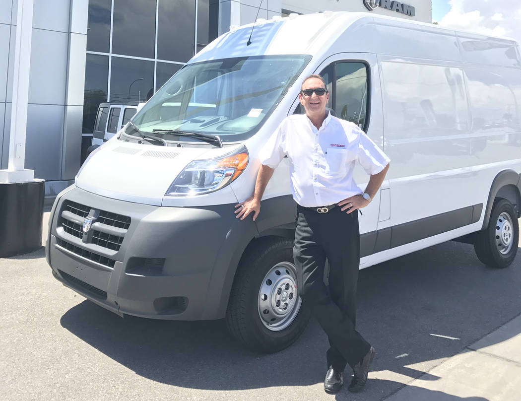 Chapman General Manager Don Hamrick stands in front of a 2017 Ram ProMaster at Chapman Dodge Chrysler Jeep Ram.