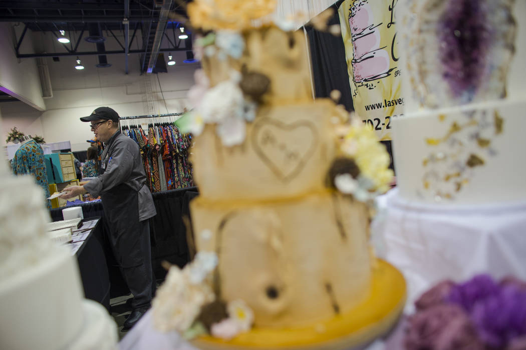 J.D. Mosello of Las Vegas Custom Cakes during the Bridal Spectacular wedding expo at Cashman Center in Las Vegas on Saturday, Aug. 19, 2017. Chase Stevens Las Vegas Review-Journal @csstevensphoto