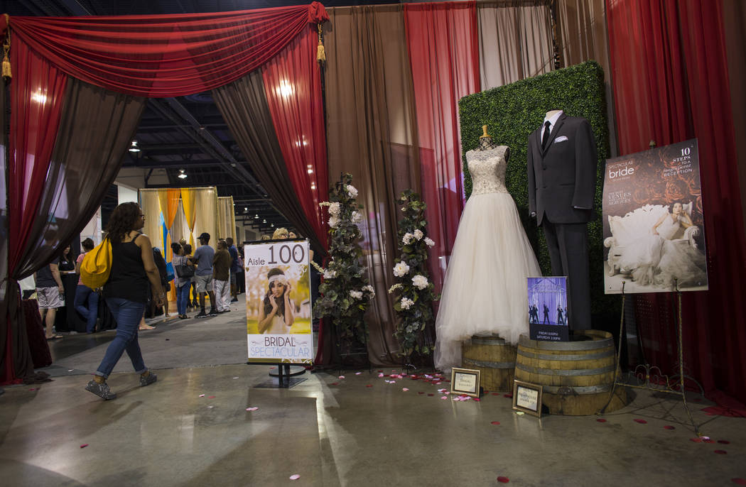 The Bridal Spectacular wedding expo at Cashman Center in Las Vegas on Saturday, Aug. 19, 2017. Chase Stevens Las Vegas Review-Journal @csstevensphoto