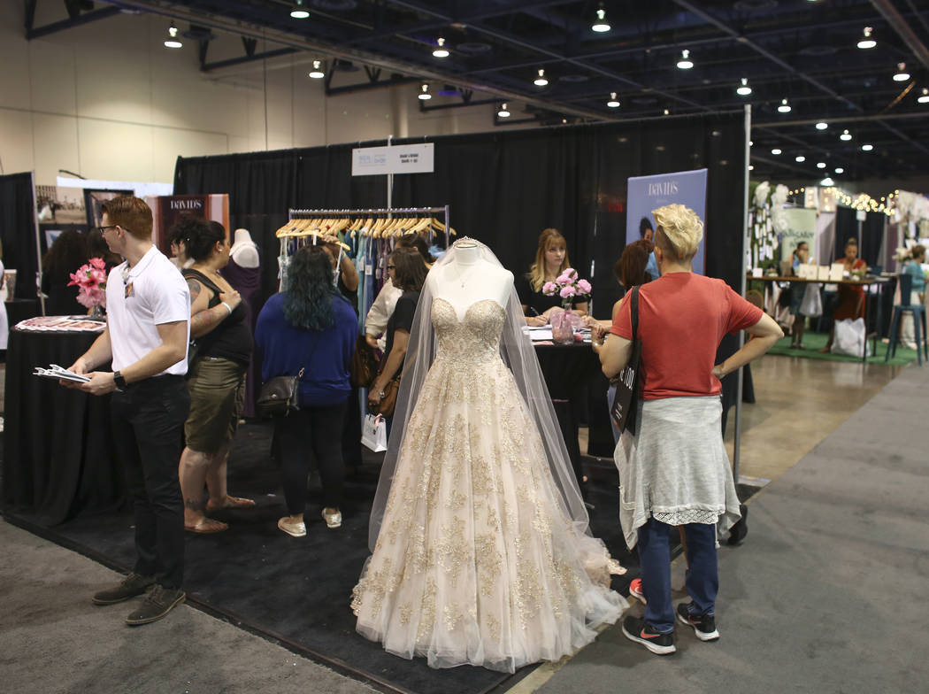 David's Bridal at the Bridal Spectacular wedding expo at Cashman Center in Las Vegas on Saturday, Aug. 19, 2017. Chase Stevens Las Vegas Review-Journal @csstevensphoto