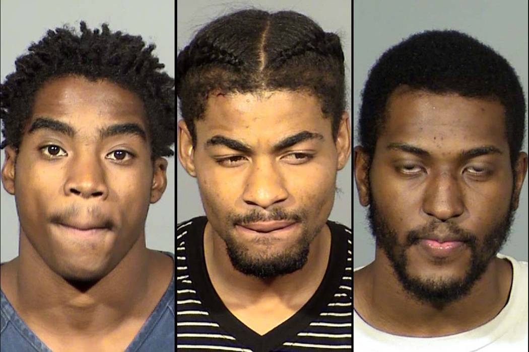 Demario Lofton-Robinson, left, Davontae Wheeler and Raekwon Robertson (Las Vegas Metropolitan Police Department)