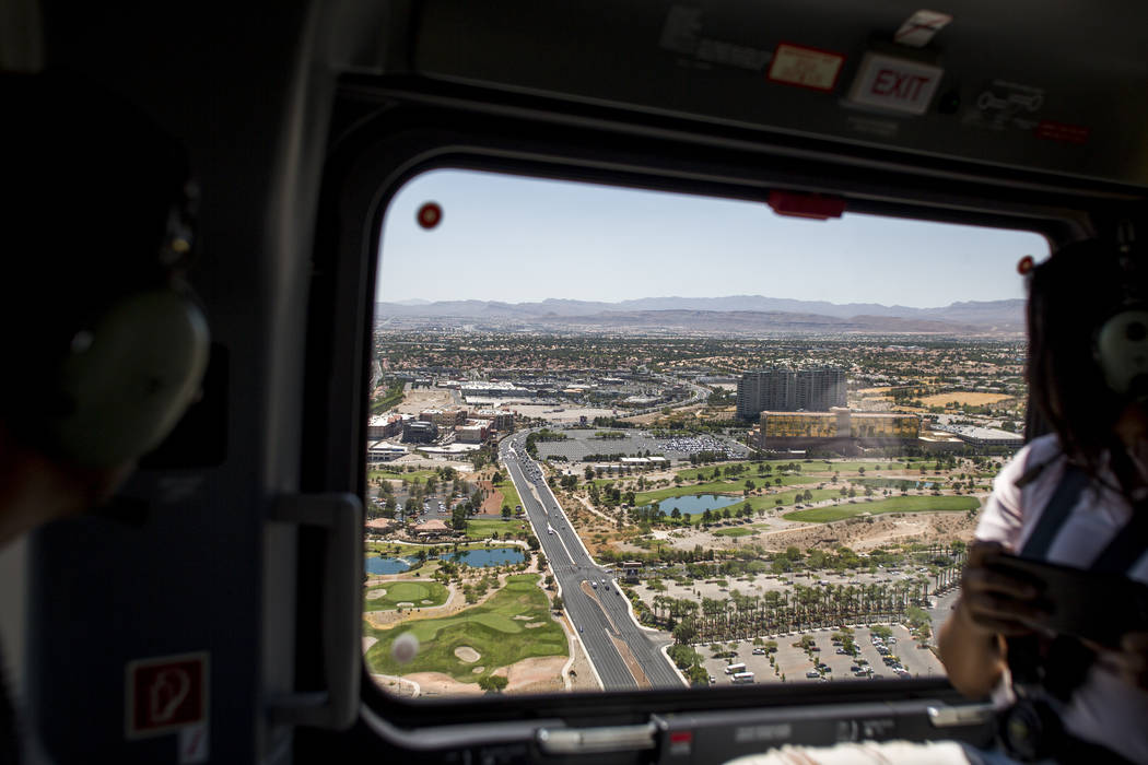 A view of Summerlin from the new Las Vegas Metropolitan Police helicopter on Wednesday, Aug. 16, 2017.  Patrick Connolly Las Vegas Review-Journal @PConnPie
