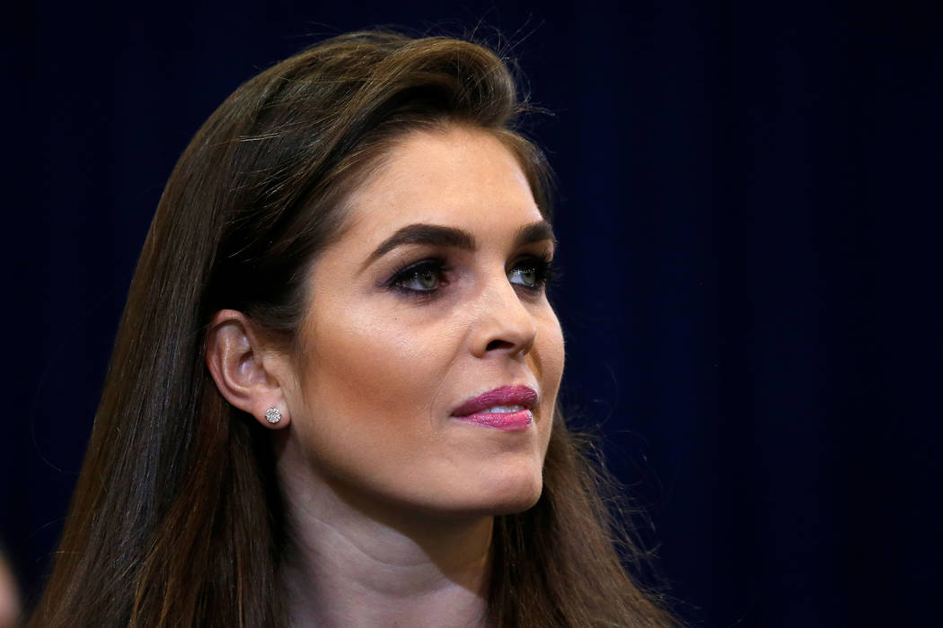 Hope Hicks during a campaign event in Phoenix on Oct. 29, 2016. Hicks has been named as interim White House communications director. (Carlo Allegr's/Reuters)