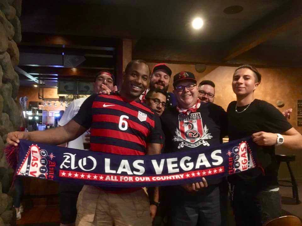 American Outlaws members celebrate the U.S. men's national soccer team win over Costa Rica at Jackson's Bar and Grill. (American Outlaws Facebook)
