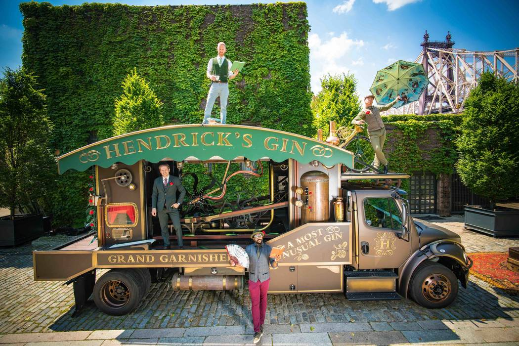 The Hendrick's Grand Garnisher was launched in New York City on June 14 on World Cucumber Day. (William Grant & Sons)