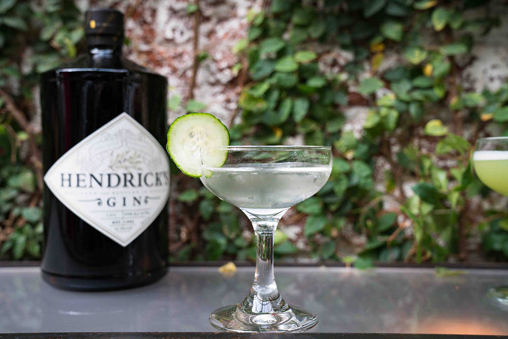 Hendrick's Gin with a slice of cucumber. (William Grant & Sons)