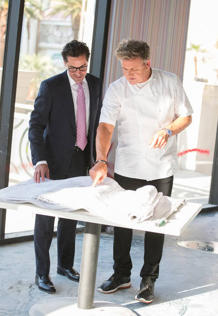 Gordon Ramsay plans to open Hell's Kitchen restaurant on the Strip this winter. (Courtesy of Gordon Ramsay on Instagram @gordongram)