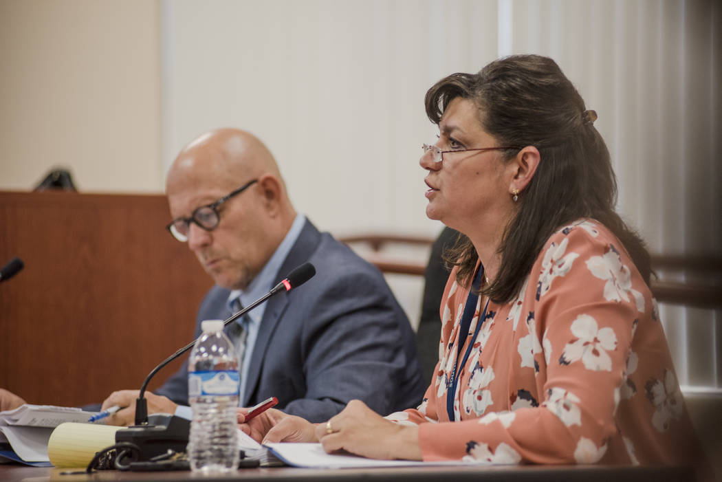 Interim Executive Director Amparo Gamazo during the Southern Nevada Regional Housing Authority's new board budget meeting at the headquarters on Thursday, Aug. 17, 2017, in Las Vegas. Morga ...