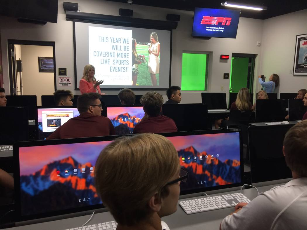 The new Film & Broadcast Academy at Faith Lutheran Middle and High School, 2016 S. Hualapai Way, is seen Aug. 10, 2017. Faith added 13,000 square feet of new classroom space, spending $3 milli ...