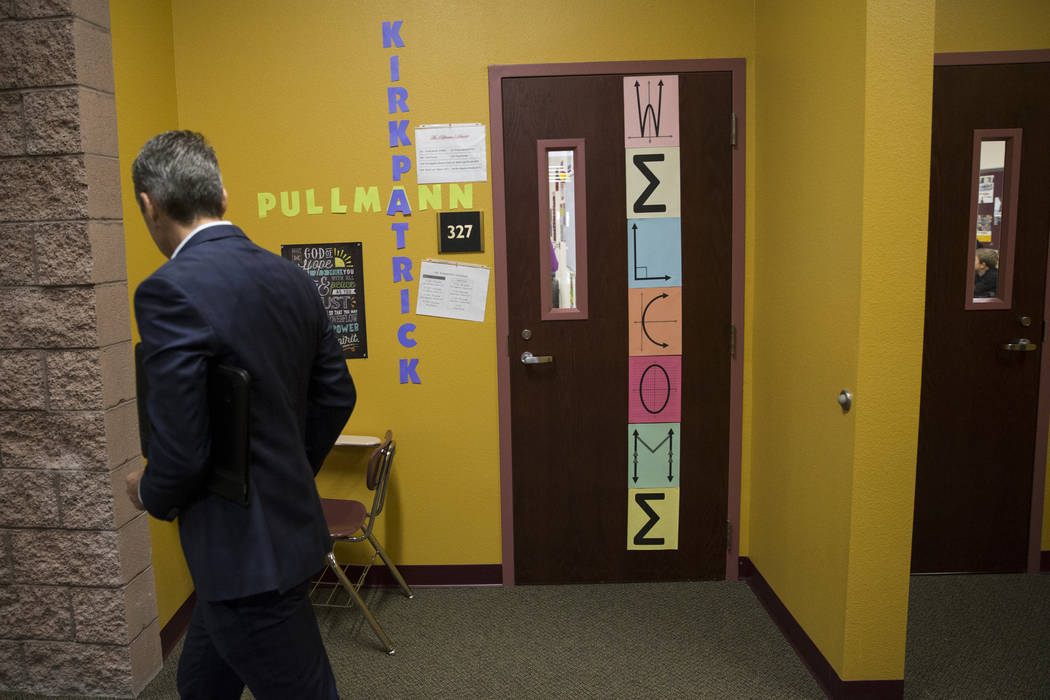 New business, entrepreneurship, film and broadcast classrooms at Faith Lutheran Middle School and High School in Las Vegas on Thursday, Aug. 10, 2017. Erik Verduzco Las Vegas Review-Journal @Erik_ ...
