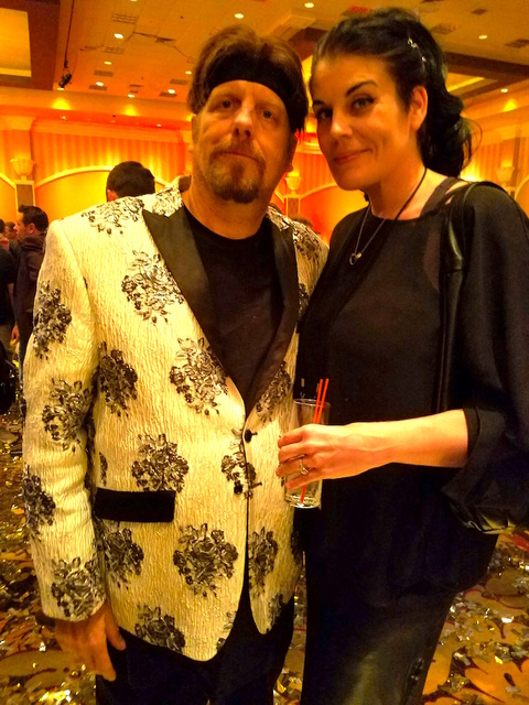 The Amazing Johnathan and Anastasia Synn at the Magic Live! convention Aug. 17, 2016, at The Orleans. (TVT)