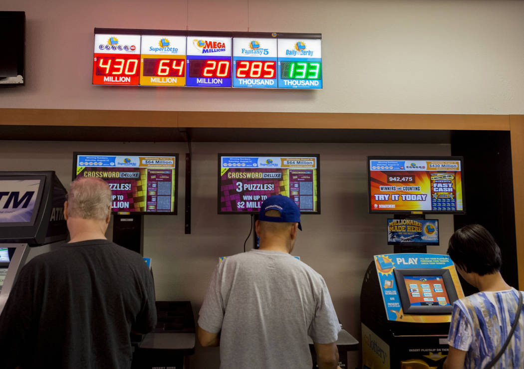 People gamble at the Primm Valley Lotto Store, Wednesday, Aug. 16, 2017. Elizabeth Brumley Las Vegas Review-Journal