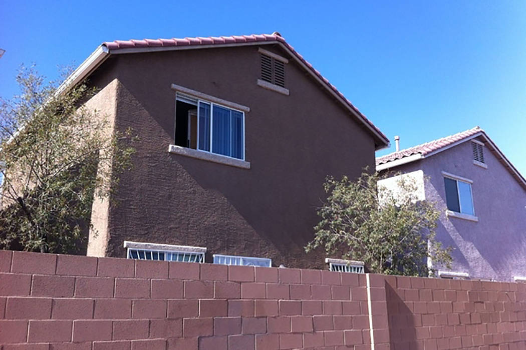 This is the house, seen in 2014, in the 3700 block of Spiritual Way in Las Vegas where Luz Ibarra threw her two children out of a second-story window. (Las Vegas Review-Journal)