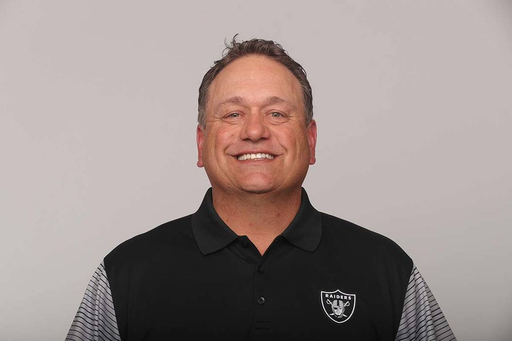 This is a 2017 photo of John Pagano of the Oakland Raiders NFL football team. This image reflects the Oakland Raiders active roster as of Monday, June 12, 2017 when this image was taken. (AP Photo)