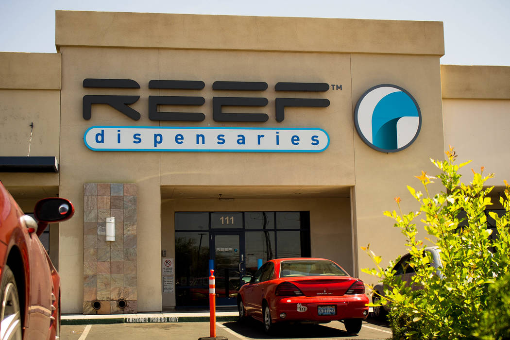 A photo of Reef dispensaries in the daytime at 1366 W. Cheyenne Ave. #110 & #111. (Courtesy of Mike Pizzo/Tryke Companies marketing content manager)