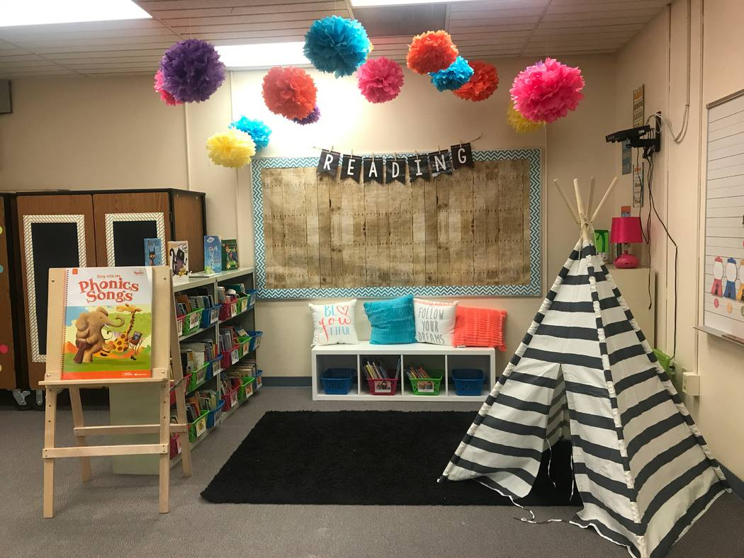 Decorations are displayed on August 15, 2017 in Madonna Hakim's classroom at Lucile S. Bruner Elementary School, 4289 Allen Lane. (Kailyn Brown/ View) @KailynHype