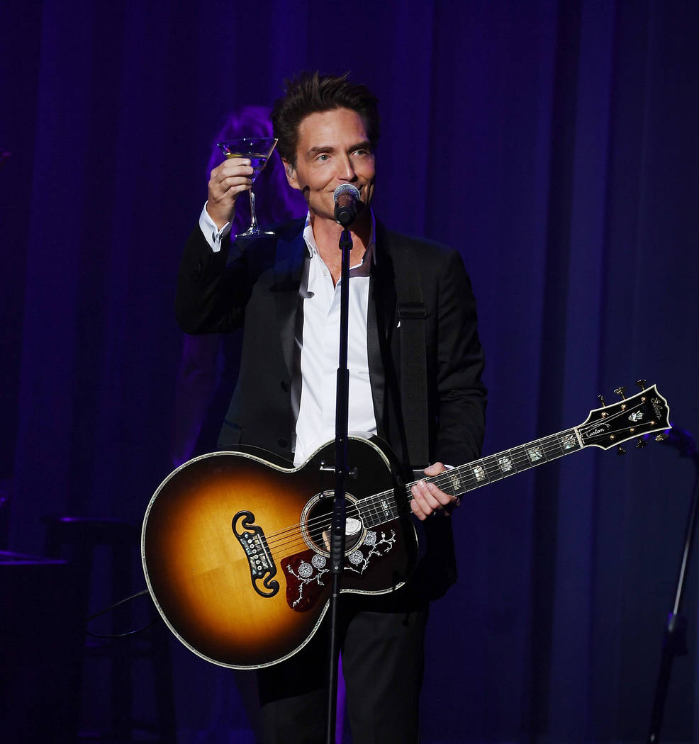 "Richard Marx performs during his debut of ""Satisfied: Only The Hits"" concert residency at Flamingo Las Vegas of his on August 15, 2017 in Las Vegas.  (Photo by Denise Truscello/WireImage)"