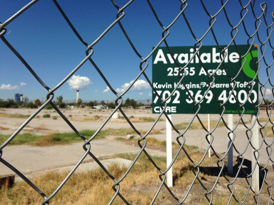 Station Casinos is trying to sell the former Castaways site on Fremont Street south of Charleston Boulevard, as seen Friday, Aug. 25, 2017. Eli Segall Las Vegas Review-Journal