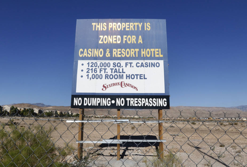 A vacant land photographed on Friday, Aug. 18, 2017, where Station Casino plans to build Resort Casino and Hotel on Durango Drive, just South of 215 Beltway in Las Vegas. (Bizuayehu Tesfaye/Las Ve ...