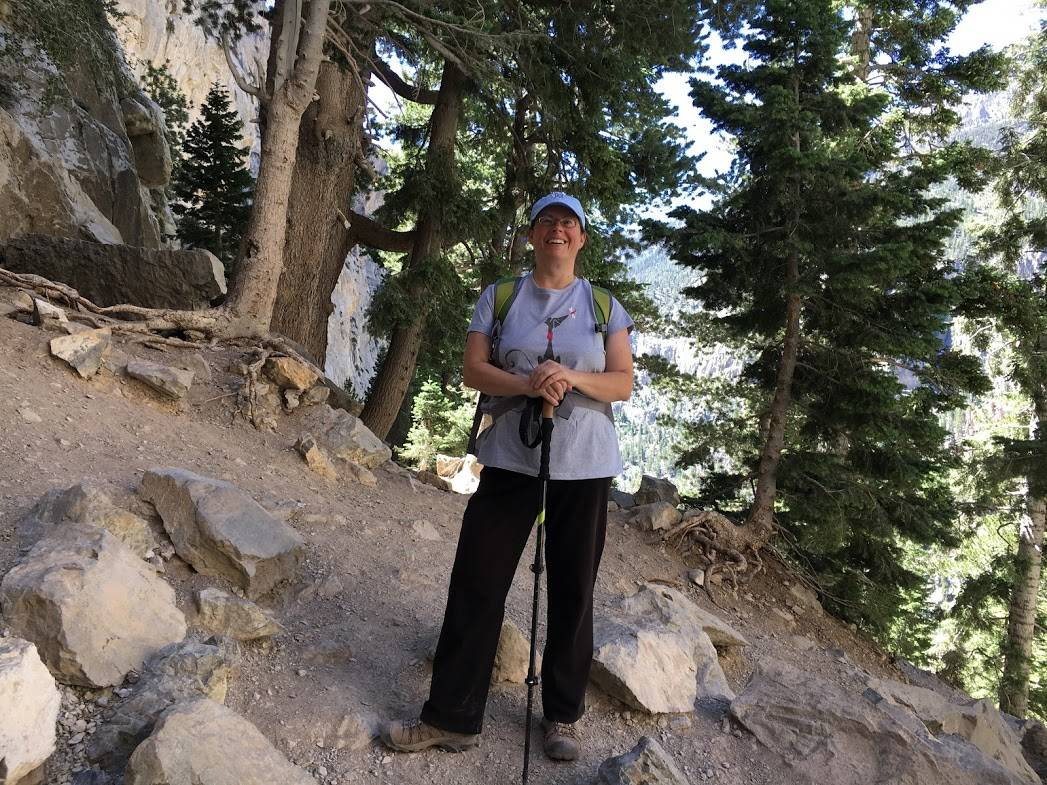 Overweight Hikers for Health leader Ronni Tomlinson hiking earlier this year at Mount Charleston. (Courtesy of Ronni Tomlinson/ OHH)