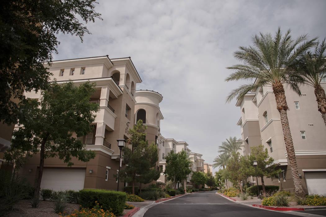 Mira Villa condo complex on Thursday, August 3, 2017, in Las Vegas. Morgan Lieberman Las Vegas Review-Journal