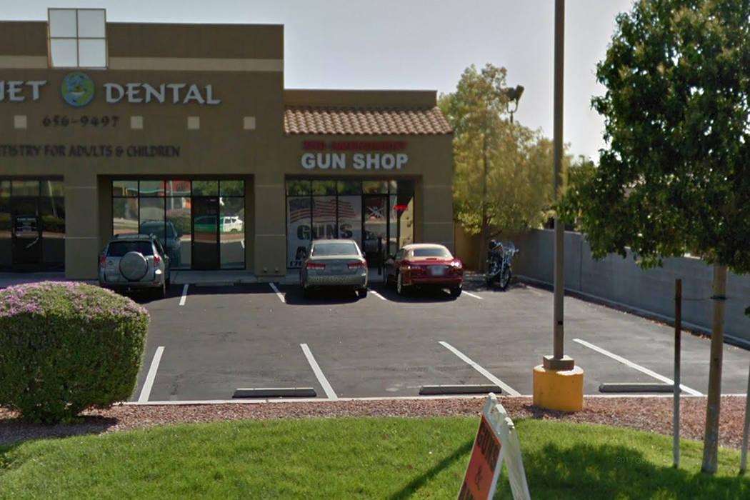 2nd Amendment gun shop on North Rancho Drive. Google Street View.