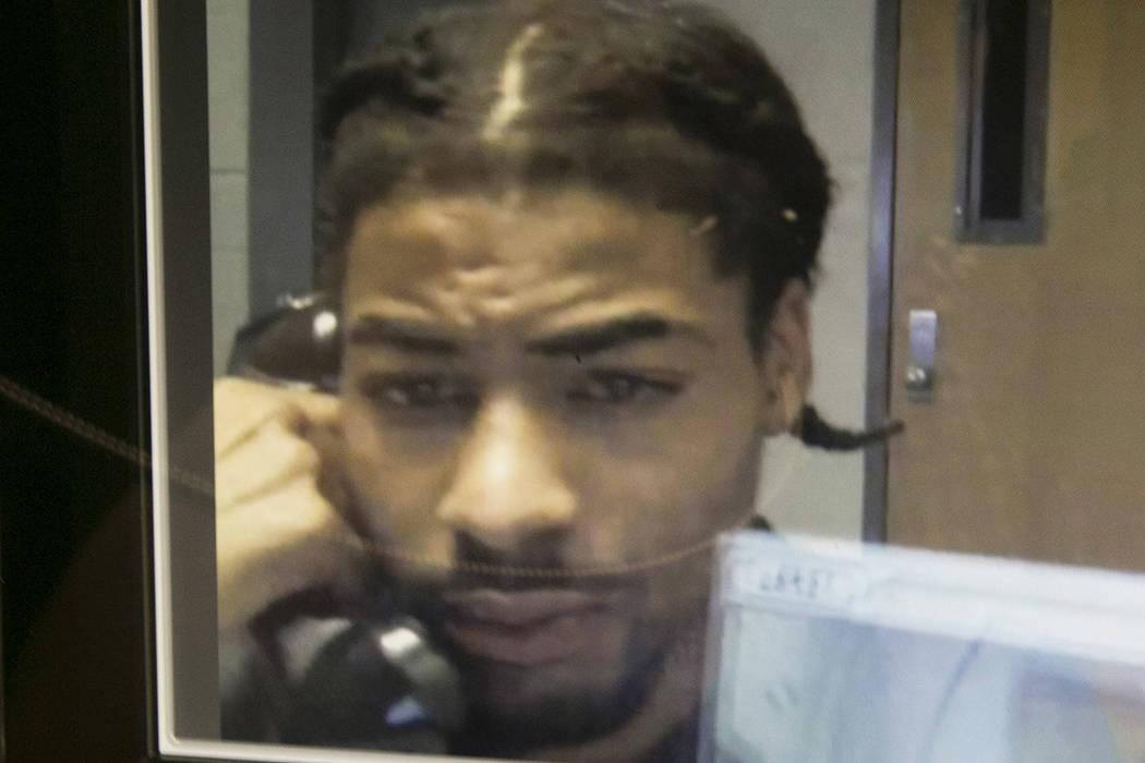 Davontae Wheeler is interviewed at Clark County Detention Center  in Las Vegas, Thursday, Aug. 17, 2017.  Mike Shoro Las Vegas Review-Journal @mike_shoro