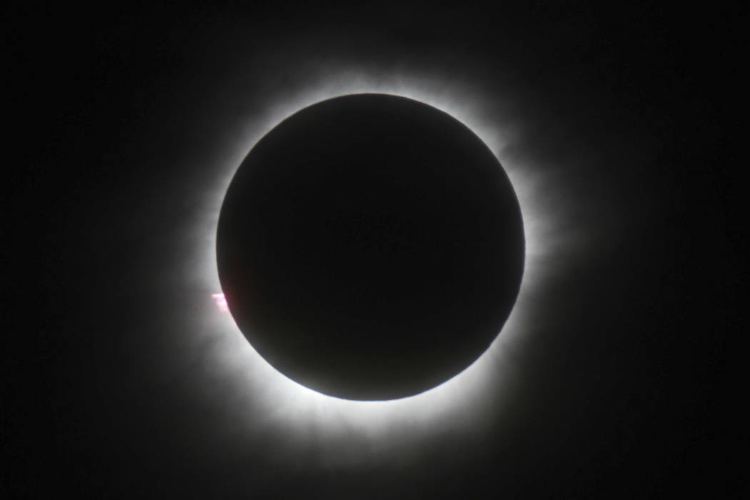 A total solar eclipse in Belitung, Indonesia on March 9, 2016. (AP/File)