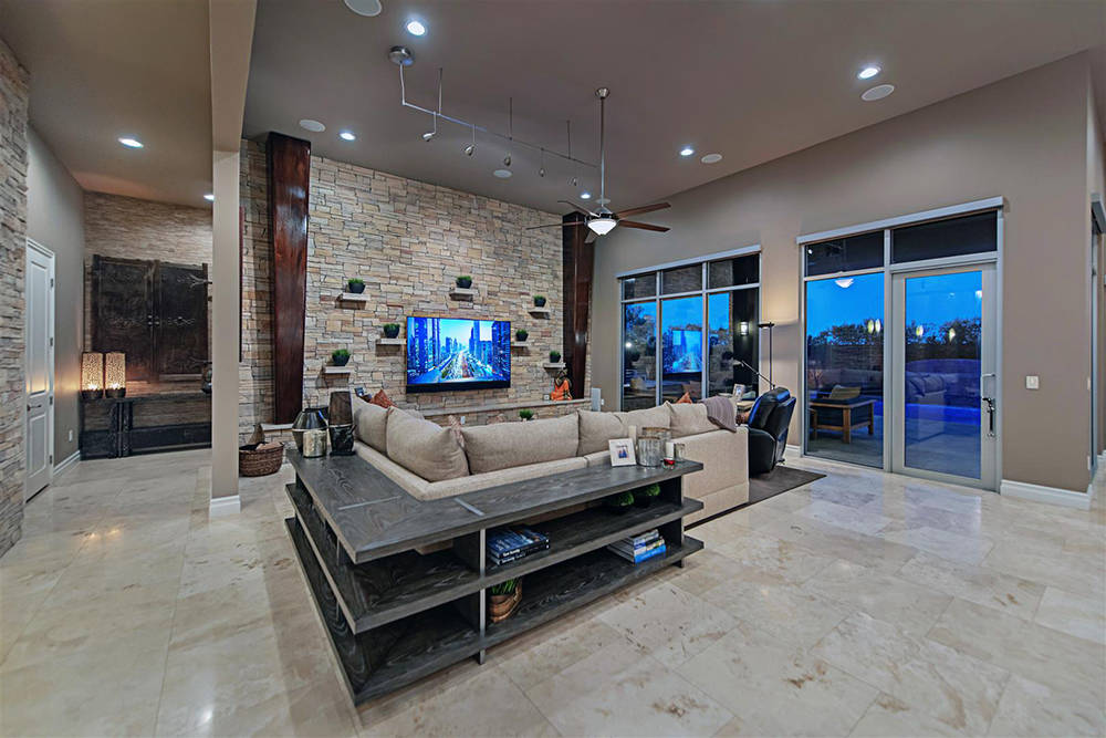 The home at 55 Meadowhawk Lane measures 4,569 square feet and is on the market for $2.8 million. (Luxury Homes of Las Vegas)