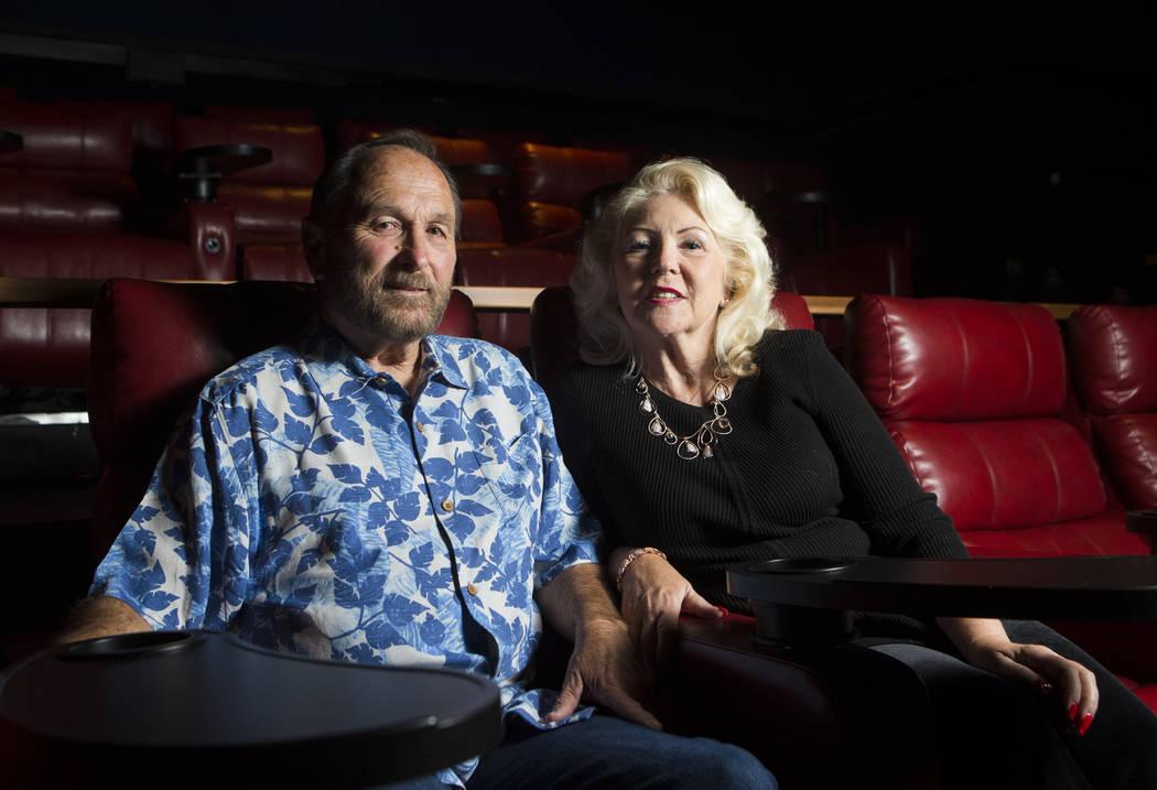 David Denevan, left, and Claudia Reott at Brenden Theatres in the Palms in Las Vegas on Saturday, Aug. 19, 2017. Chase Stevens Las Vegas Review-Journal @csstevensphoto