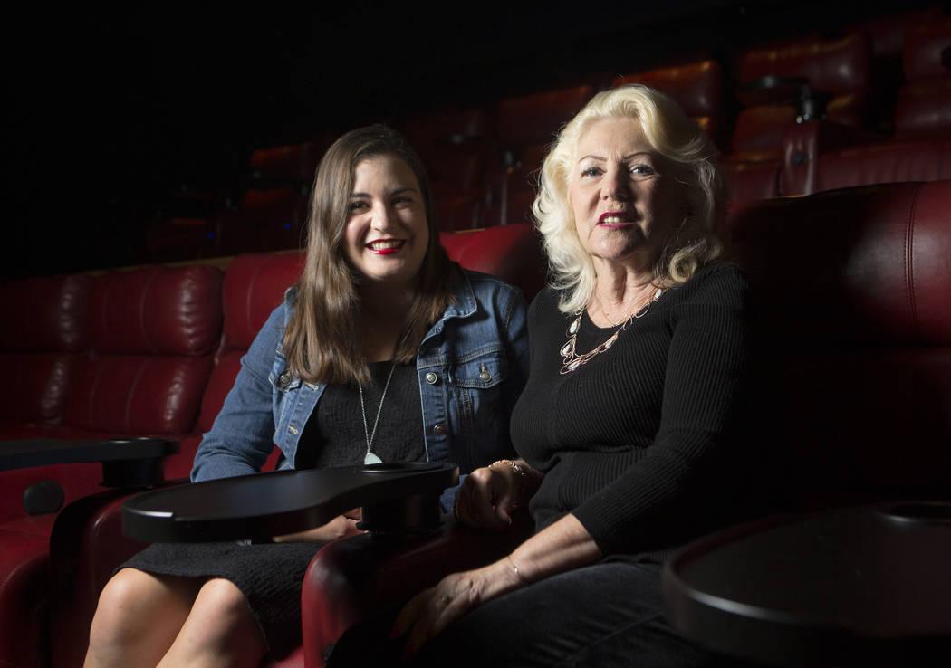 Ashton Avila, left, and Claudia Reott at Brenden Theatres in the Palms in Las Vegas on Saturday, Aug. 19, 2017. Chase Stevens Las Vegas Review-Journal @csstevensphoto